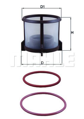 KX 72D2 MAHLE ORIGINAL Degvielas filtrs MAN M 2000 L - iegādāties tagad