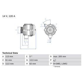 0986049530 Generator BOSCH 0 986 049 530 - Große Auswahl - stark reduziert