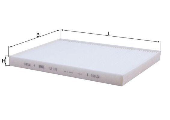 MAHLE ORIGINAL Filtr, wentylacja przestrzeni pasażerskiej do RENAULT TRUCKS - numer produktu: LA 1178