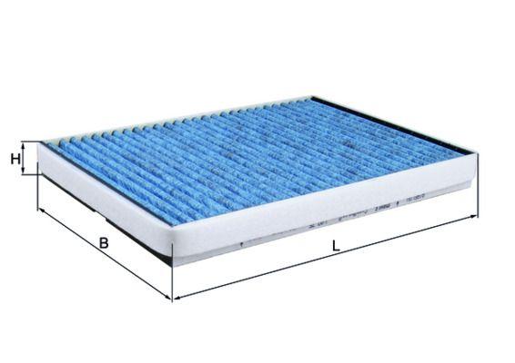 Origine Filtre à pollen MAHLE ORIGINAL LAO 75 (Largeur: 208mm, Hauteur: 29mm, Longueur: 300mm)