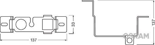 Εξαρτήματα προβολέων ομίχλης LEDFOG101-NIS-M OSRAM — μόνο καινούργια ανταλλακτικά