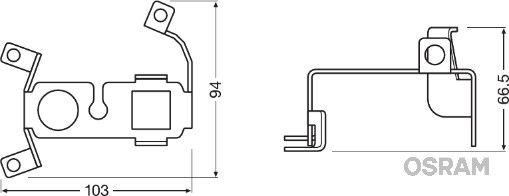 Εξαρτήματα προβολέων ομίχλης LEDFOG101-VW-M OSRAM — μόνο καινούργια ανταλλακτικά
