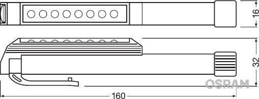 LEDIL203 Ръчна лампа (фенерче) OSRAM Test