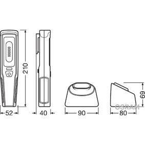 Купете LEDIL207 OSRAM LEDinspect PROFESSIONAL 150 1,6волт, 235мм, тип на крушката: LED (светодиоди) капацитет на батерия: 2000mAh Ръчна лампа (фенерче) LEDIL207 евтино