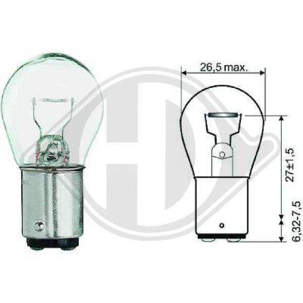 OE Original Glühlampe Blinker LID10053 DIEDERICHS