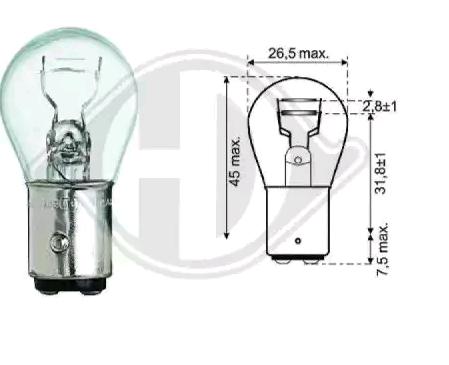 Lampadina luce posteriore LID10056 DIEDERICHS — Solo ricambi nuovi