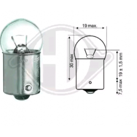 крушка с нагреваема жичка, светлини купе DIEDERICHS LID10059 купете и заменете