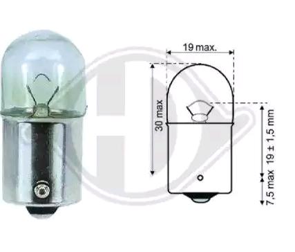 Köp DIEDERICHS LID10061 - Glödlampa baklykta: BA15s, 10W, 12V