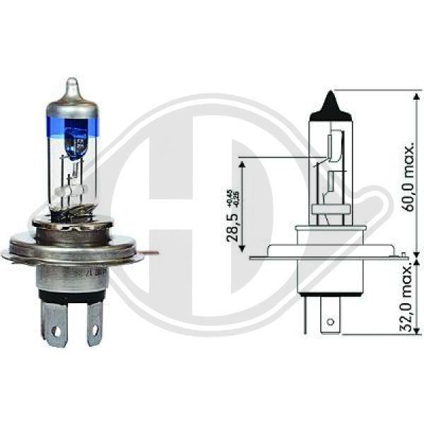 LID10064 DIEDERICHS Glühlampe, Hauptscheinwerfer passend für MERCEDES-BENZ online bestellen