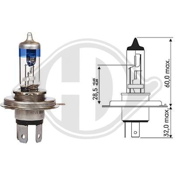 LID10067 DIEDERICHS More Light +120% P43t, 12V, 55, 60W Glühlampe, Hauptscheinwerfer LID10067 günstig kaufen