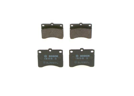 PIAGGIO APE 2020 Bremsbelagsatz - Original BOSCH 0 986 424 099 Höhe: 63,5mm, Breite: 78,7mm, Dicke/Stärke: 13,4mm