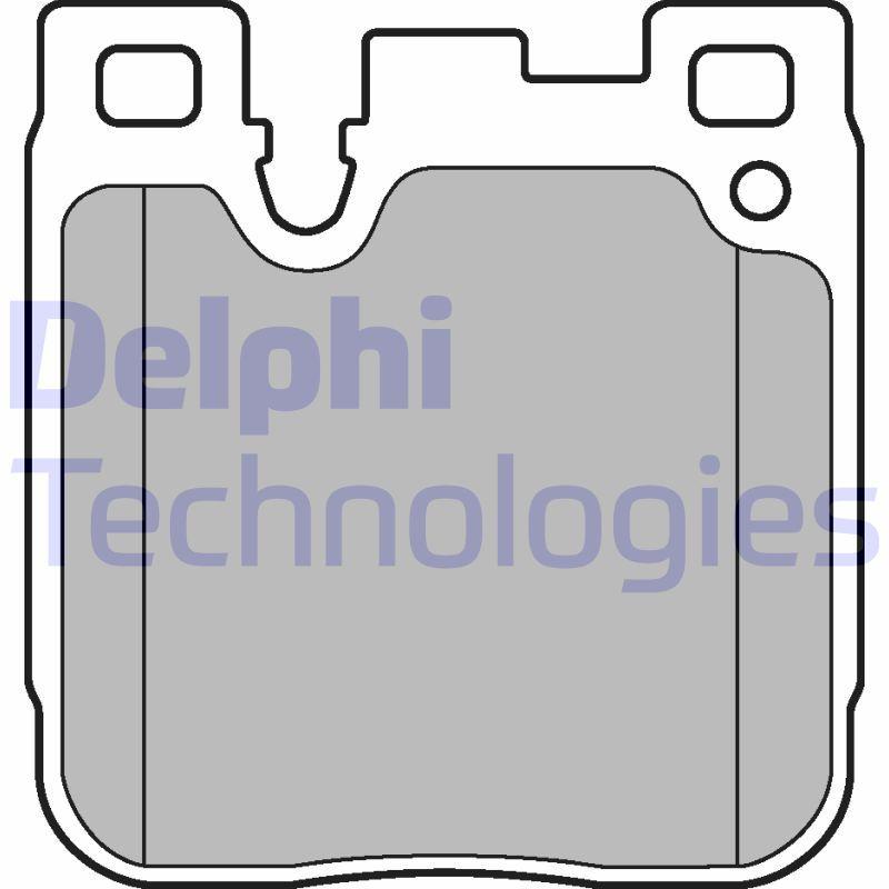 LP3249 DELPHI für Verschleißwarnanzeiger vorbereitet, ohne integrierten Verschleißsensor Höhe 1: 78mm, Höhe 2: 78mm, Breite 1: 74mm, Breite 2: 74mm, Dicke/Stärke 1: 16mm, Dicke/Stärke 2: 16mm Bremsbelagsatz, Scheibenbremse LP3249 günstig kaufen