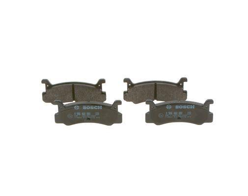 DAIHATSU GRAN MOVE 2020 Bremsbelagsatz - Original BOSCH 0 986 460 080 Höhe: 42,5mm, Breite: 101,6mm, Dicke/Stärke: 12,5mm