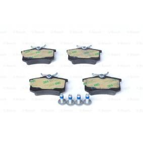 0986461769 Bremsbelagsatz, Scheibenbremse BOSCH 20960 - Große Auswahl - stark reduziert
