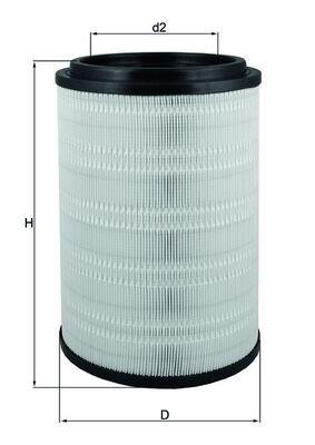 MAHLE ORIGINAL Luftfilter für DAF - Artikelnummer: LX 2741