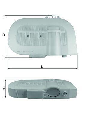 MAHLE ORIGINAL Luftfilter für MAN - Artikelnummer: LX 2810