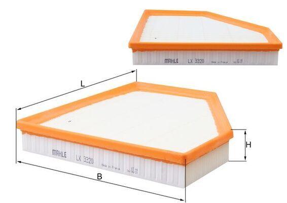 Luftfilter MAHLE ORIGINAL LX 3320 Bewertungen
