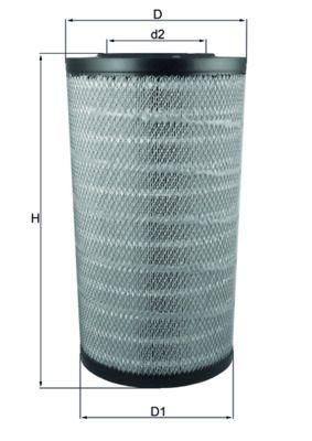 LX 3753 MAHLE ORIGINAL Luftfilter til DAF XF - køb nu