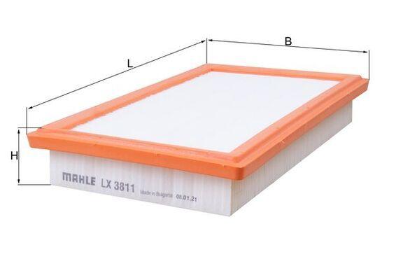 Въздушен филтър LX 3811 с добро MAHLE ORIGINAL съотношение цена-качество