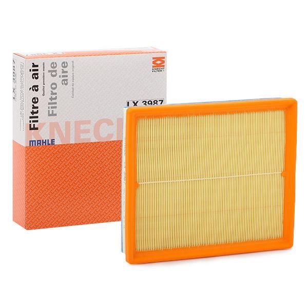 Achetez Filtre à air MAHLE ORIGINAL LX 3987 (Longueur coque: 238,0mm, Longueur: 205,0mm, Largeur: 205, 205,0mm, Hauteur: 47mm) à un rapport qualité-prix exceptionnel