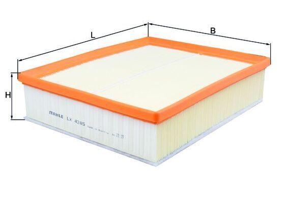 MAHLE ORIGINAL Luftfilter LX 4245