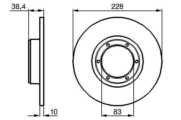 Achetez Tuning BOSCH 0 986 478 103 (Ø: 228mm, Nbre de trous: 6, Épaisseur du disque de frein: 10mm) à un rapport qualité-prix exceptionnel