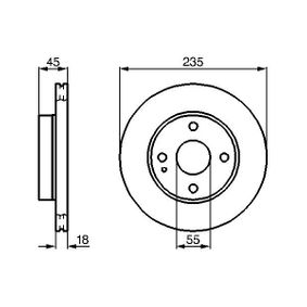 Brake Disc 0 986 478 241 for MAZDA DEMIO at a discount — buy now!