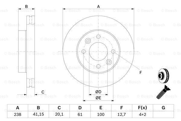 0 986 478 276 Stabdžių diskas BOSCH - Pigus kokybiški produktai