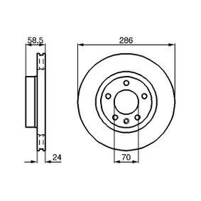 BD514 BOSCH belüftet, Innenbelüftet, geölt Ø: 286mm, Lochanzahl: 5, Bremsscheibendicke: 24mm Bremsscheibe 0 986 478 594 günstig kaufen