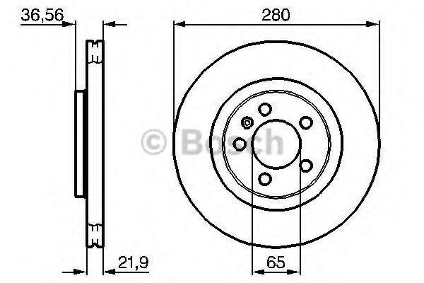 0 986 478 852 Stabdžių diskas BOSCH - Pigus kokybiški produktai