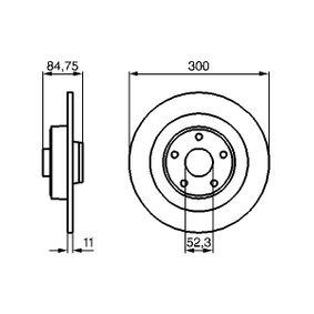 BD1018 BOSCH Voll, geölt, ohne Radlager, ohne ABS-Sensorring, ohne integrierten magnetischen Sensorring Ø: 300mm, Lochanzahl: 5, Bremsscheibendicke: 11mm Bremsscheibe 0 986 479 083 günstig kaufen