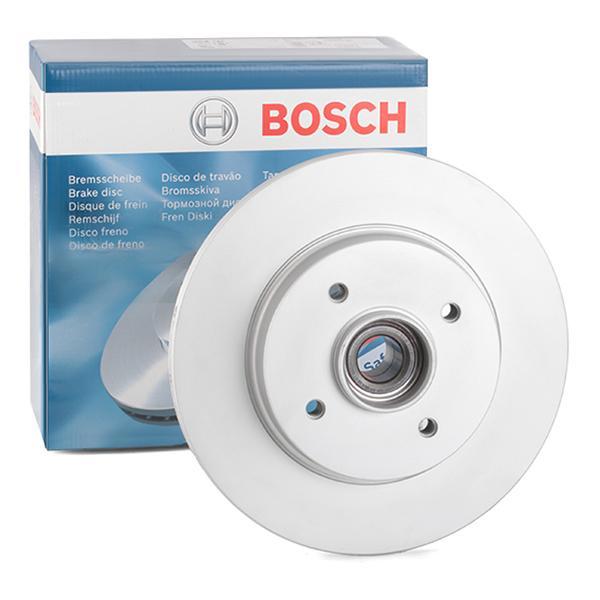 E190R02C03100068 BOSCH Voll, beschichtet, mit ABS-Sensorring, mit Radlager Ø: 268mm, Lochanzahl: 4, Bremsscheibendicke: 12mm Bremsscheibe 0 986 479 387 günstig kaufen