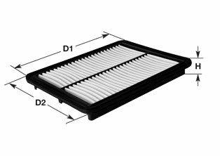MA3031 CLEAN FILTER Filtereinsatz Höhe: 41,5mm Luftfilter MA3031 günstig kaufen