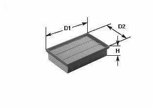MA3145 CLEAN FILTER Filtereinsatz Höhe: 60mm Luftfilter MA3145 günstig kaufen