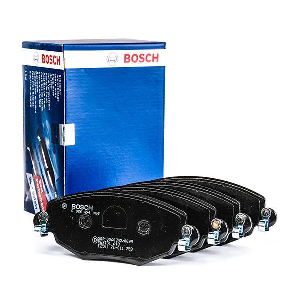 0 986 494 026 Bremsbelagsatz BOSCH - Markenprodukte billig