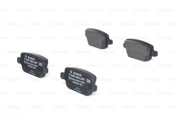 Ford MONDEO 2015 Disk pads BOSCH 0 986 494 247: with anti-squeak plate, with mounting manual