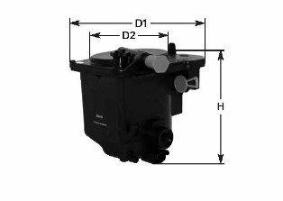 MGC1685 CLEAN FILTER Filtereinsatz Höhe: 130mm Kraftstofffilter MGC1685 günstig kaufen