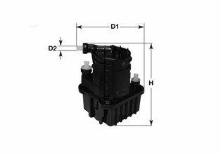 MGC1686 CLEAN FILTER ohne Filterheizung, mit Wasserablassschraube, Filtereinsatz, mit Schnellkupplung Höhe: 188mm Kraftstofffilter MGC1686 günstig kaufen
