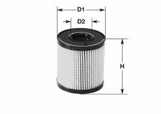 ML1729 CLEAN FILTER Filtereinsatz Höhe: 81mm Ölfilter ML1729 günstig kaufen