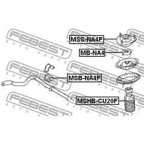 MSSNA4F Fjäderbens-stödlager FEBEST MSS-NA4F Stor urvalssektion — enorma rabatter
