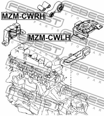 FEBEST | Lagerung, Automatikgetriebe MZM-CWLH