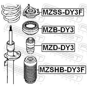MZSSDY3F Lagerung, Stoßdämpfer FEBEST MZSS-DY3F - Große Auswahl - stark reduziert