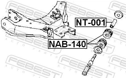 FEBEST   Lagerung, Lenker NAB-140