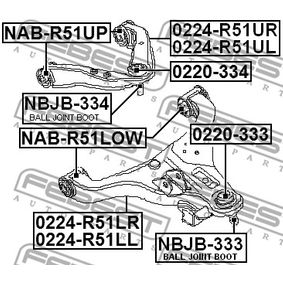 NBJB334 Reparatursatz, Trag- / Führungsgelenk FEBEST NBJB-334 - Große Auswahl - stark reduziert