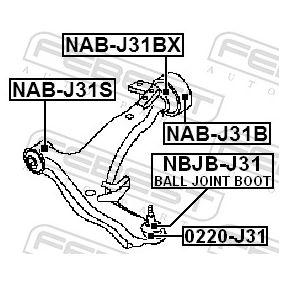 NBJBJ31 Reparatursatz, Trag- / Führungsgelenk FEBEST NBJB-J31 - Große Auswahl - stark reduziert