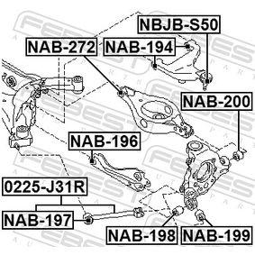 NBJBS50 Reparatursatz, Trag- / Führungsgelenk FEBEST NBJB-S50 - Große Auswahl - stark reduziert