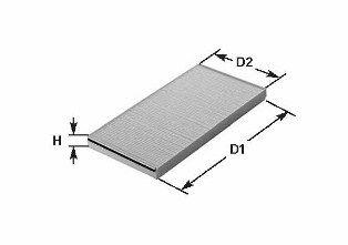 Купете NC2015 CLEAN FILTER вложка на филтър височина: 33мм Филтър, въздух за вътрешно пространство NC2015 евтино