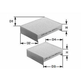 NC2046 CLEAN FILTER Pollen Filter Height: 30mm Filter, interior air NC2046 cheap