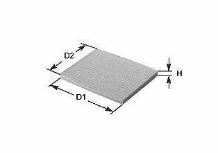 Купете NC2096CA CLEAN FILTER вложка на филтър, филтър с активен въглен височина: 33мм Филтър, въздух за вътрешно пространство NC2096CA евтино
