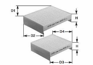 NC2192CA CLEAN FILTER Filter, Innenraumluft billiger online kaufen